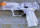 Airsoftgun Walther P22 transparent 6 mm Feder-Softairpistole